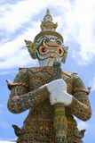 Ancient giant sculpture of The Emerald Buddha temple Royalty Free Stock Photography