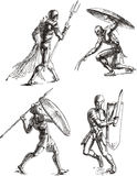 Ancient Gladiator Sketches Royalty Free Stock Image