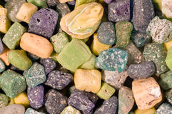 Ancient glass mosaic stones. Background Stock Photos