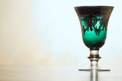 Ancient glass. An old glass from Murano Stock Image