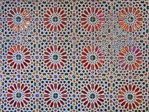 Ancient glazed ceramics tiles Stock Images