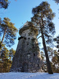 Ancient Glehns lookout tower, Tallinn observatory Royalty Free Stock Images