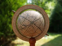 Ancient globe. Closeup of an ancient world globe Royalty Free Stock Image