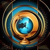 Ancient globe background Stock Image