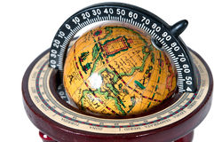 The ancient globe. On a white background Royalty Free Stock Photography