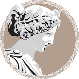 Ancient goddess. Ancient Greek goddess. Vector illustration royalty free illustration