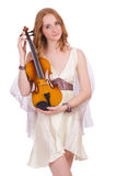 Ancient goddess with violin Royalty Free Stock Photo