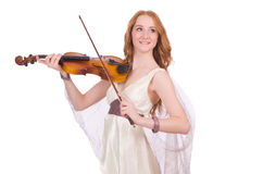 Ancient goddess with violin Royalty Free Stock Photos