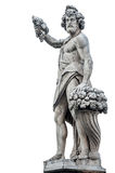 Ancient gods with grapes and horn of plenty. `Autumn` by Giovanni Caccini, 1608, is a statue placed at the beginning of the bridge of Santa Trinita, in Florence Stock Image