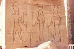 The ancient gods and the Pharaoh, Egypt Royalty Free Stock Image