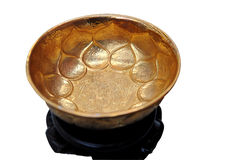 Ancient gold bowl Royalty Free Stock Photos