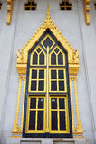 Ancient Gold Carving Wooden Door Of Thai Temple Stock Photo