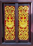 Ancient Gold carving wooden windows