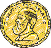 Ancient gold coin vector illustration clip-art image Royalty Free Stock Image