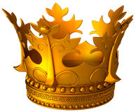 Ancient gold crown Stock Photography