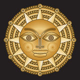 Ancient gold medallion solar Stock Photography