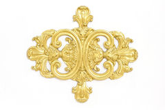 Of an ancient gold ornament on a white background Stock Photography