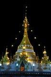 Ancient gold pagoda north Thailand. Stock Photo