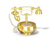 Ancient gold phone Stock Photos