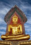 Ancient golden Buddha Stock Photo