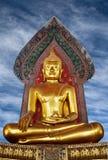 Ancient golden Buddha Stock Photo