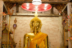 Ancient golden Buddhas Royalty Free Stock Photography