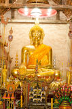 Ancient golden Buddhas Stock Photography