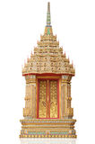 Ancient Golden carving wooden door Royalty Free Stock Image
