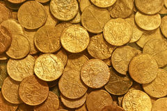 Ancient Golden Coins Royalty Free Stock Photography