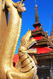 Ancient golden dragon, Mount Popa, Myanmar Burma Royalty Free Stock Photo