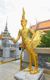 An ancient of golden Kinnaree Royalty Free Stock Image