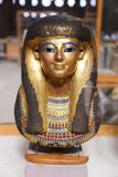 Ancient goldy Mask at Egyptian museum. Cairo, Egypt Jan. 2018 Ancient gold and silver antiquities - Egyptian museum Stock Photos