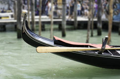 Ancient gondola in Venice Stock Photography