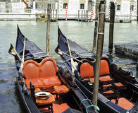 Ancient gondola in Venice Royalty Free Stock Images