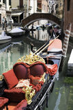 Ancient gondola in Venice Stock Image