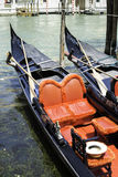 Ancient gondola in Venice Royalty Free Stock Photos