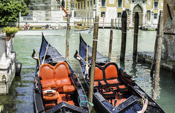 Ancient gondola in Venice Royalty Free Stock Image