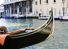 Ancient gondola in Venice Stock Images