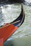 Ancient gondola in Venice Stock Photo