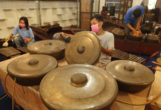 Ancient gong Royalty Free Stock Images