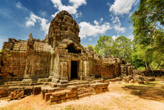 Ancient gopura of Ta Som temple in Angkor, Cambodia Royalty Free Stock Photos