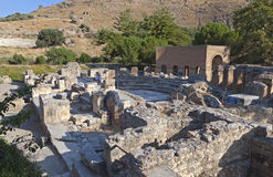 Ancient Gortyna at Crete island Stock Photos