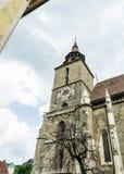Ancient Gothic Black Church in Brasov, Romania. Ancient european architecture. Brasov, Transylvania region, Romania - June 10, 2018: Ancient medieval Gothic Royalty Free Stock Images
