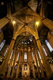 Ancient gothic cathedral. Interior of ancient gothic catedral Royalty Free Stock Images