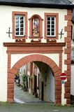 Ancient Graacher city gate in Bernkastel-Kues Royalty Free Stock Photography