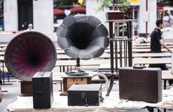 Ancient gramaphone Royalty Free Stock Photos