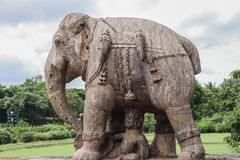 Ancient Granite Elephant Stock Photos