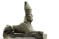 Ancient granite sphinx Royalty Free Stock Photos