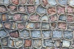 Ancient granite wall Royalty Free Stock Photos