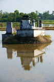 Ancient grave reflect on surface water Royalty Free Stock Photography